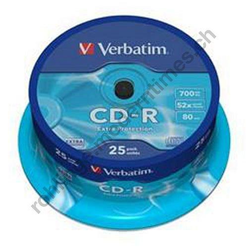 Details: Verbatim 52x CD-R 700 MB, 52x, Extra Protection Surface, 25-er Spindel