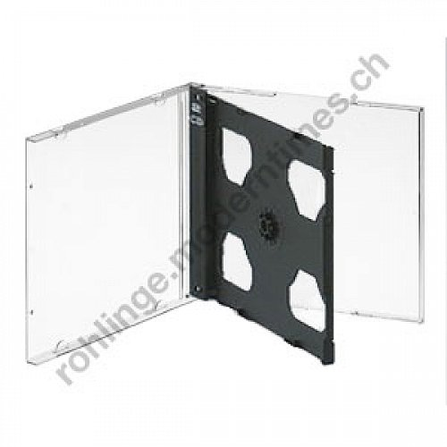 Details: Jewel-Box Doppel (CD-Hülle für 2 CDs), mit schwarzem Tray
